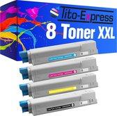 PlatinumSerie® 8 x toner XXL alternatief voor Oki C5800