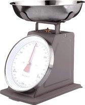 Plint retro Keukenweegschaal Antraciet - Tot 3 kg.