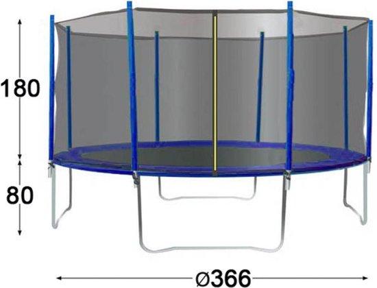 TRIGANO Trampoline met veiligheidsnet 366 cm J-JOU078