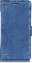 Mobigear Copper Buckle Retro Wallet Hoesje Blauw LG V40 ThinQ