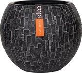 Capi - Vaas bol II stone 12x9 zwart