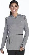 Coolibar UV hoodie Dames - Zwart/Wit - Maat 42