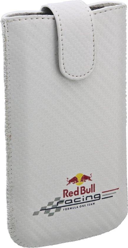 Red Bull Racing hoesje wit + kleurenlogo Apple iPhone 4 en soortgelijke telefoons - Red Bull Racing