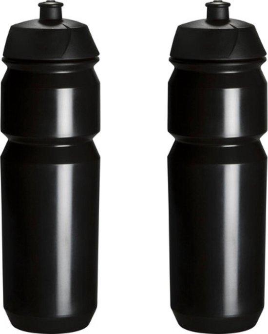 2 x Tacx Shiva Bidon - 750 ml - Zwart - Drinkbus