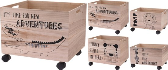 Welp bol.com | Set van 2 kisten op wieltjes voor kinderen - set van 2 WU-03