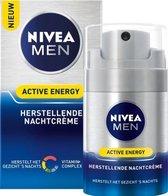 NIVEA MEN Active Energy Herstellende Nachtcrème - 50 ml