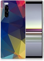 TPU Hoesje Sony Xperia 5 Polygon Dark