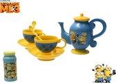 Minion Bellenblaas Theeset – 35x28x8cm   Buitenspeelgoed Voor Kinderen   Bellen Blazen