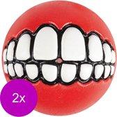Rogz Grinz Treat Ball Medium - Hondenspeelgoed - 2 x Rood M