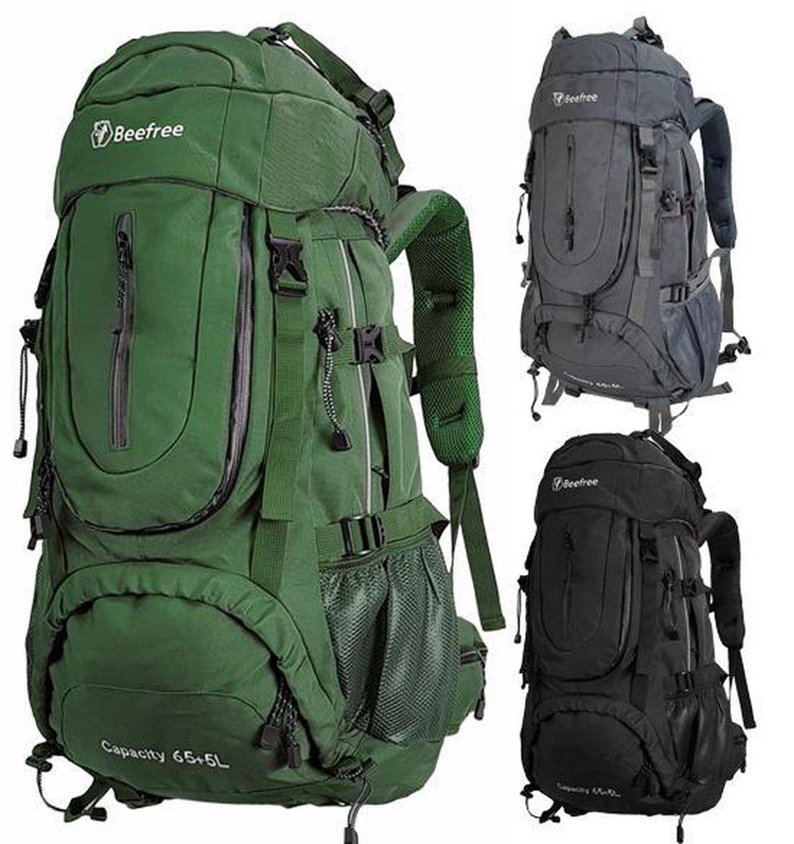 Beefree 70 Liter Backpack   Inclusief regenhoes   Frontlader   Extra stevig   Updated 2019 model   G