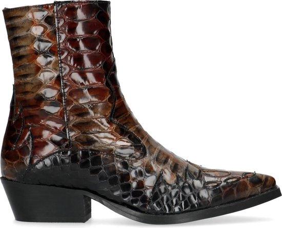 Sacha - Dames - Korte cowboylaarzen met crocoprint - Maat 40