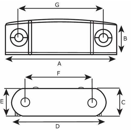 Dulimex Deurvergrendeling magneetsnapper; kracht 6 kg    DX-MC 8802B wit - Dulimex