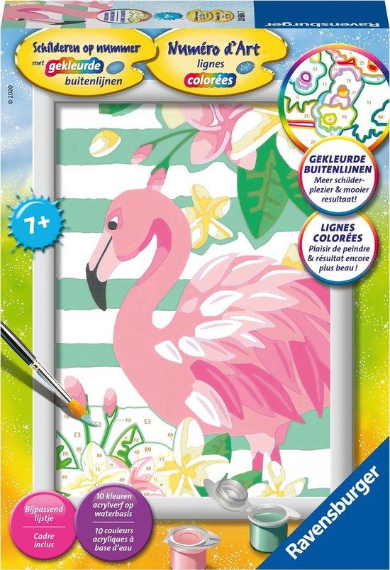 Ravensburger schilderen op nummer Flamingo