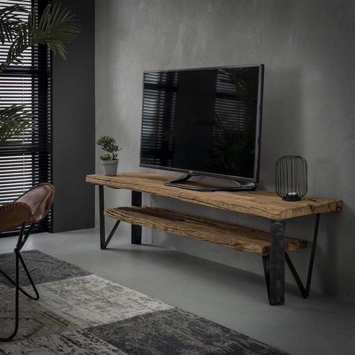 Hardhouten Tv Kast.Bol Com Livin24 Industriele Tv Meubel Nova Hardhout 160x40cm