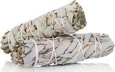 Witte Salie - white sage - smudge stick - 1 stuk - 10cm - 32 gram - meditatie - yoga - huis reiniging - zuivering