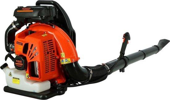 Kibani Benzine Bladblazer 63.3 cc / 3.6 pk - Luchtsnelheid 300 km/h - 2700W - Ruggedrager - Bladblazers
