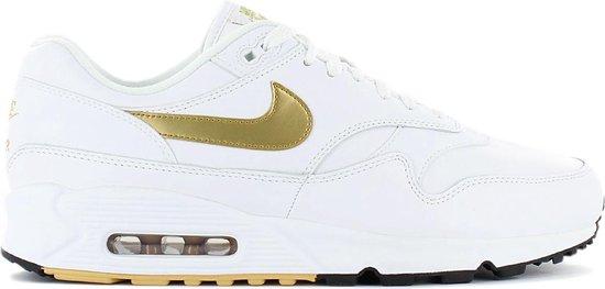 Nike Air Max 90 / 1 Heren Sneakers Sportschoenen Schoenen Wit-Goud  AJ7695-102 - Maat EU 45 US 11