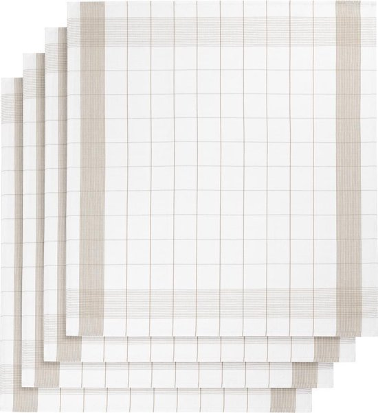 De Witte Lietaer keukenhanddoek - Theedoek - 68x68 cm - Set van 2 moonlight
