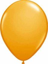Metallic Ballonnen Oranje : 100 Stuks