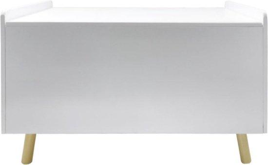 Product: Speelgoedkist opbergkist Pukkie dekenkist wit, van het merk VDD