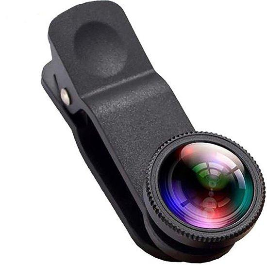 3-in-1 Lens voor Smartphone / Telefoon - Macro / Groothoeklens / Fisheye Clip - Geschikt voor iPhone / Samsung / Smartphone
