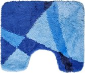 Toiletmat 50x60cm Blauw Gestreept