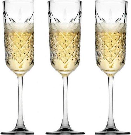 Pasabahce Timeless Champagneglazen - 175 ml - 4 Stuks - Flute