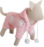 Hondenpyjama pink counting sheep XS