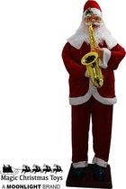 Dansende Kerstman met saxofoon (1.80M)
