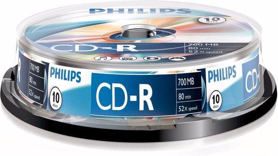 Philips CD-R 700MB 10pcs Spindel 52x