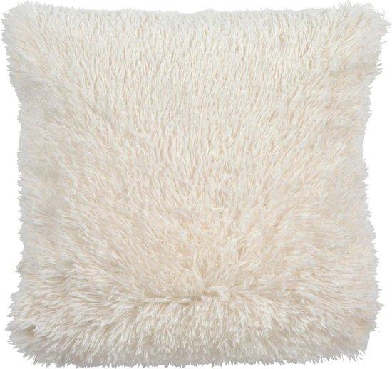 Dutch Decor Fluffy - Sierkussen - 45x45 cm - Ivory