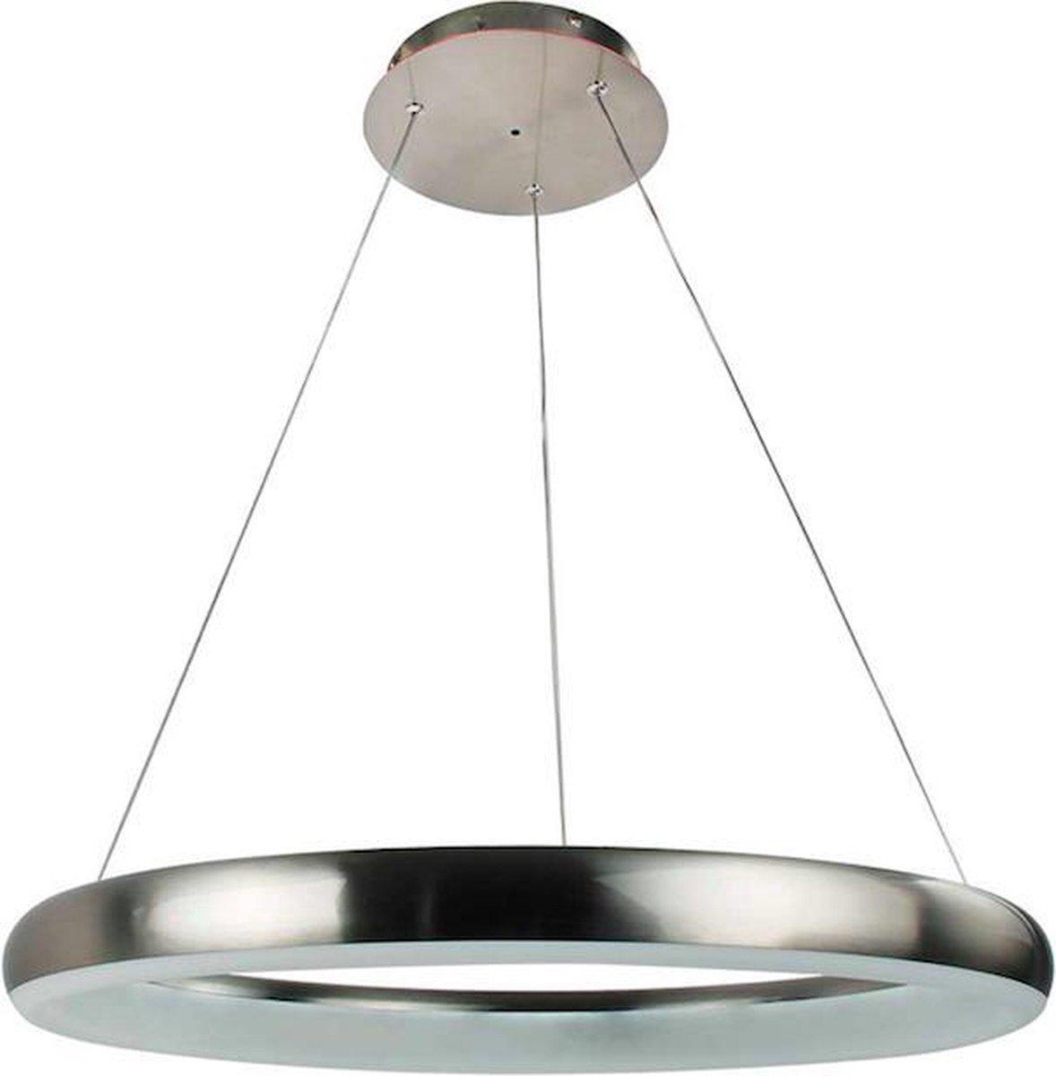 Hoogwaardige Nikkel Mat Design Led Hanglamp 33W | Smart Technologie | Unieke Wifi en Stembediening | Programmeerbaar | Premium ontwerp door Wofi |