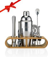 Cocktail Set – 17 delige Cocktailset + Recepten E-book – Luxe Cadeau Man Vrouw Shaker Set – 750ml – Qwality