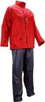 Ralka Regenpak - Volwassenen - Unisex - Maat M - Rood/Antraciet
