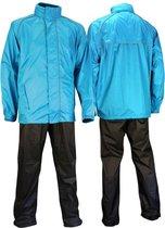 Ralka Comfort Regenpak - Volwassenen - Unisex - Maat XL - Azuurblauw/Antraciet