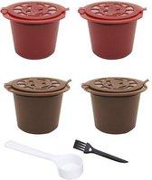 MIRO   4x Hervulbare Nespresso cups   Koffiecups   Koffie capsule  hervul baar