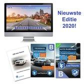 Boek cover (NIEUW!) Auto Theorieboek Rijbewijs B 2020 + Online Theorie Oefen Examens + Samenvatting van LeerTheorie BV