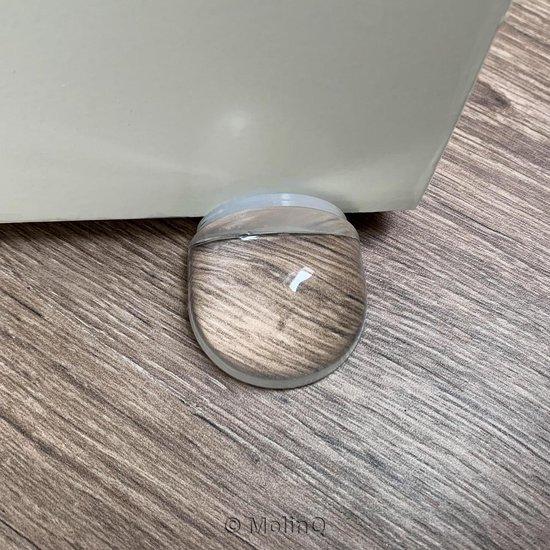 Deurstoppers voor binnen - 3x Zelfklevende Transparante Deurstopper   3x Deurbuffer / Muurbeschermer