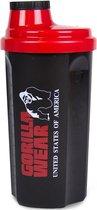 Gorilla Wear Shaker - Shakebeker - 700 ML - Zwart/Rood