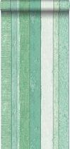 ESTAhome behang sloophout motief groen - 138983 - 0.53 x 10.05 m
