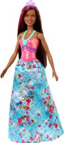 Barbie Dreamtopia Prinses met bruin haar - Barbiepop