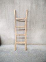 Teak ladder - teakladder - houten decoratie ladder - handdoekenrek