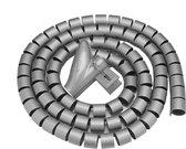 Spiraal Kabelslang - Kabel Management Organizer Slang - Spiraalband - Op Maat Te Knippen - Spiraalslang Met Rijgtool - 20mm 100CM - Grijs