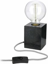 Tafellamp Cube Marmer - met filamentlamp