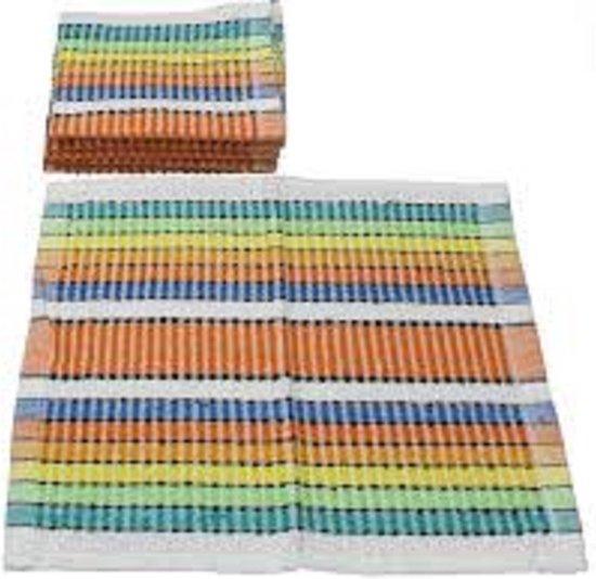 Vaatdoek 100 % katoen multicolor - 12 stuks - 35 x 35 cm