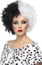 """""""Cruella damespruik voor Halloween - Verkleedpruik - One size"""""""
