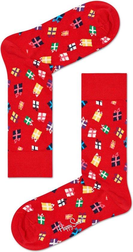 Happy Socks - Happy Holiday - kerst sokken - Gift - Rood - Unisex - Maat 36-40