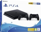 Sony PlayStation 4 Slim 500GB with Extra Dualshock 4 Controller - Black - EU - PS4