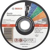 Bosch - Doorslijpschijf recht Rapido Multi Construction ACS 60 V BF, 125 mm, 22,23 mm, 1,0 mm