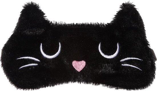 Slaapmasker Feline Fine Kat - Zwart